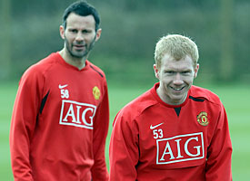 Ryan Giggs and Paul Scholes; still world class
