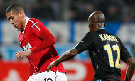 Chris Smalling against Marseilles