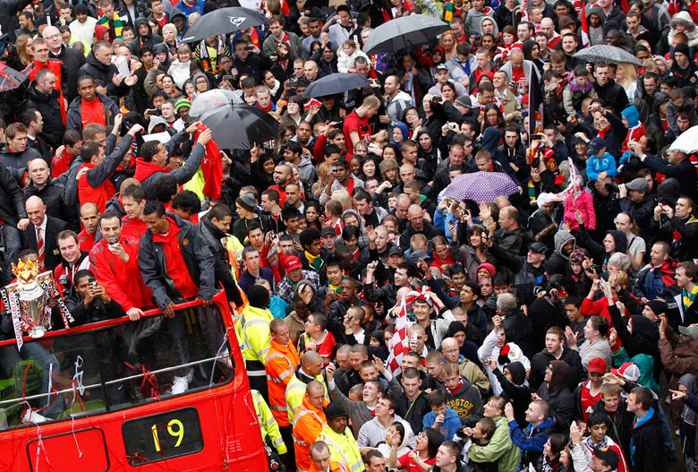 Manchester United trophy parade