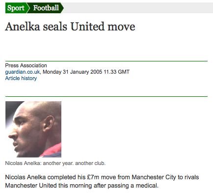 Anelka signs for United