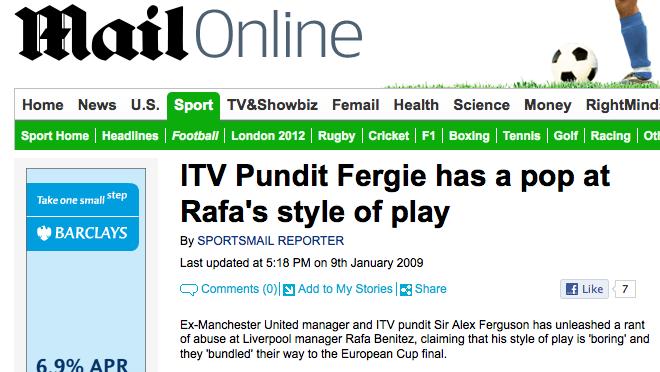 Fergie/Benitez rant