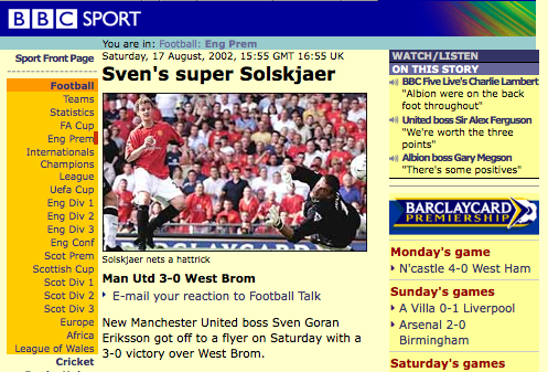 BBC mock up - Solskjaer