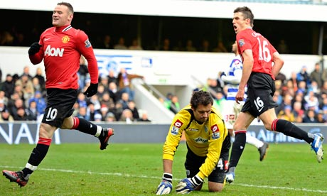 Michael Carrick scores against QPR