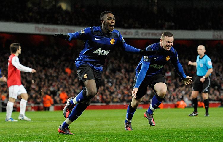 Welbeck scores against Arsenal
