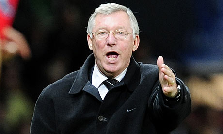 Sir Alex Ferguson shouting
