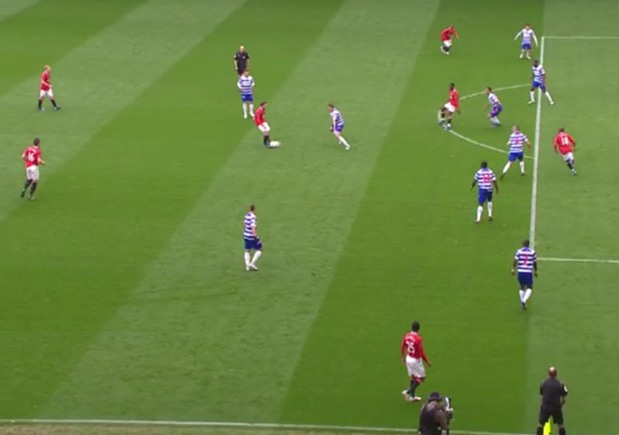 Ashley Young offside for United penalty