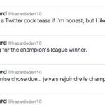 Eden Hazard & Twitter a problem