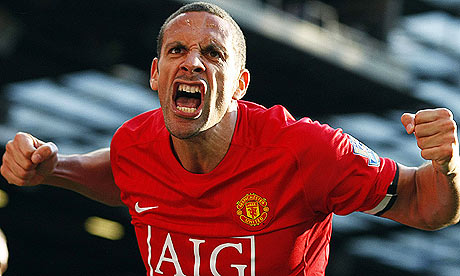 Rio Ferdinand celebrating
