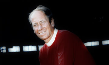 Bobby Charlton posing in the 1960s