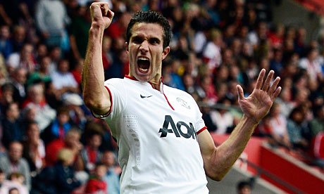 Robin van Persie, goalscoring and past United greats