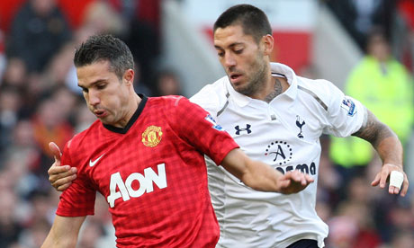 Man United 2-3 Tottenham Hotspur: United nearly make up for Fergie&#039;s selection error
