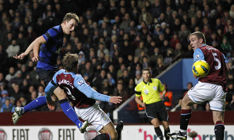 Phil Jones scores against Aston Villa