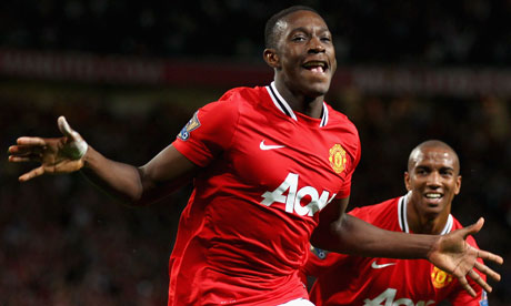 Danny Welbeck scored for Manchester United when they beat Tottenham Hotspur 3-0 in August 2011