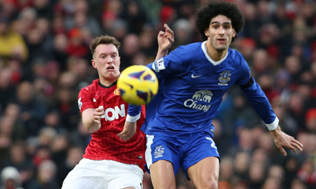 Marouane Fellaini and Phil Jones