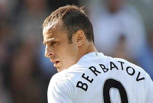 Dimitar Berbatov in Fulham colours