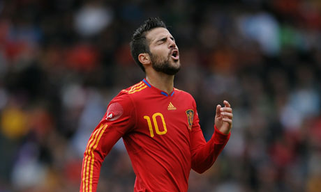 Cesc Fabregas playing for Spain