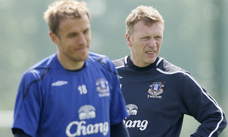 Phil Neville is set to join David Moyes at Manchester United