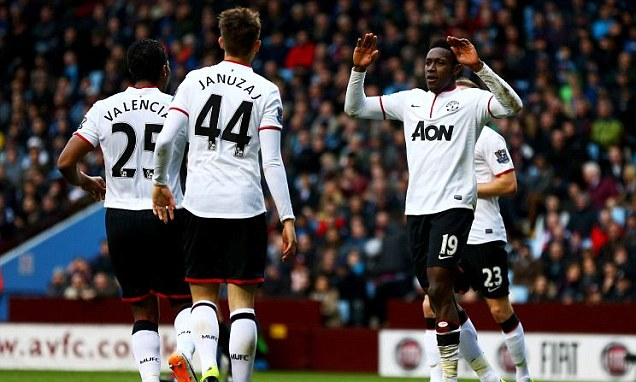 Welbeck scores twice as United beat Villa 3-0
