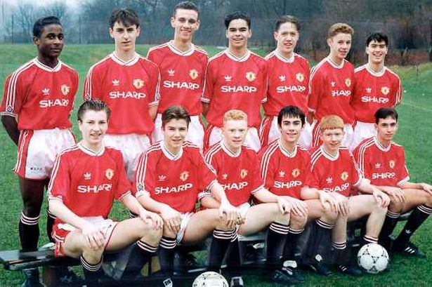 Manchester United youth team from 1992
