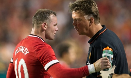Wayne Rooney with Louis van Gaal