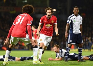 Manchester Unites snatch a late equaliser against WBA