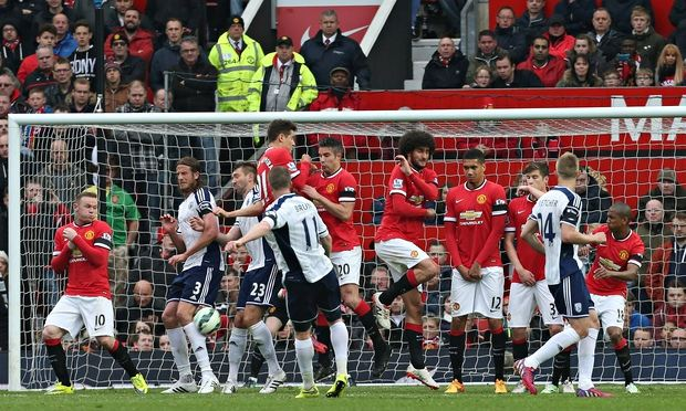 Manchester United lose 1-0 to WBA last season