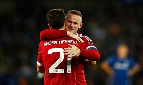 Wayne Rooney answers critics with hat trick against Brugge