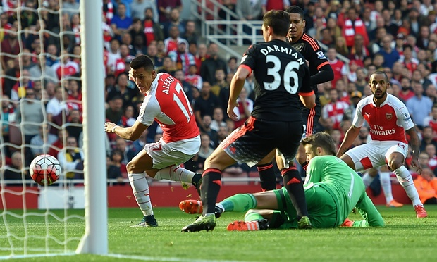 United thumped 3-0 at Arsenal as Alexis Sanchez stars