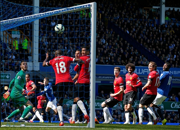 John Stones beats David De Gea as Everton thrash United 3-0