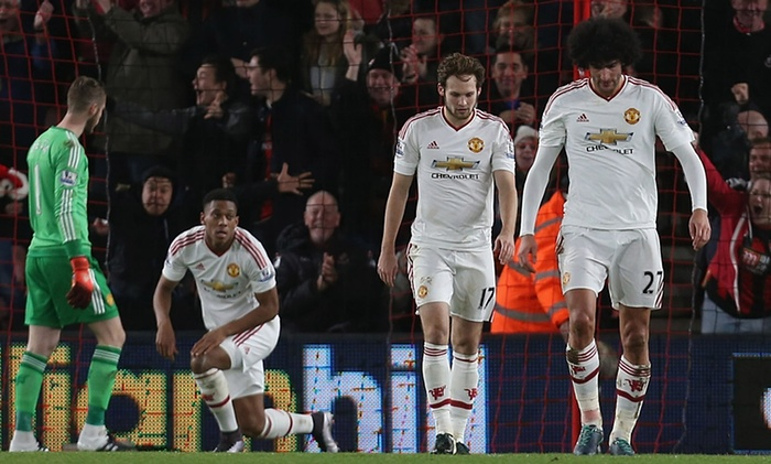 Josh King heaps more misery on van Gaal as United lose again