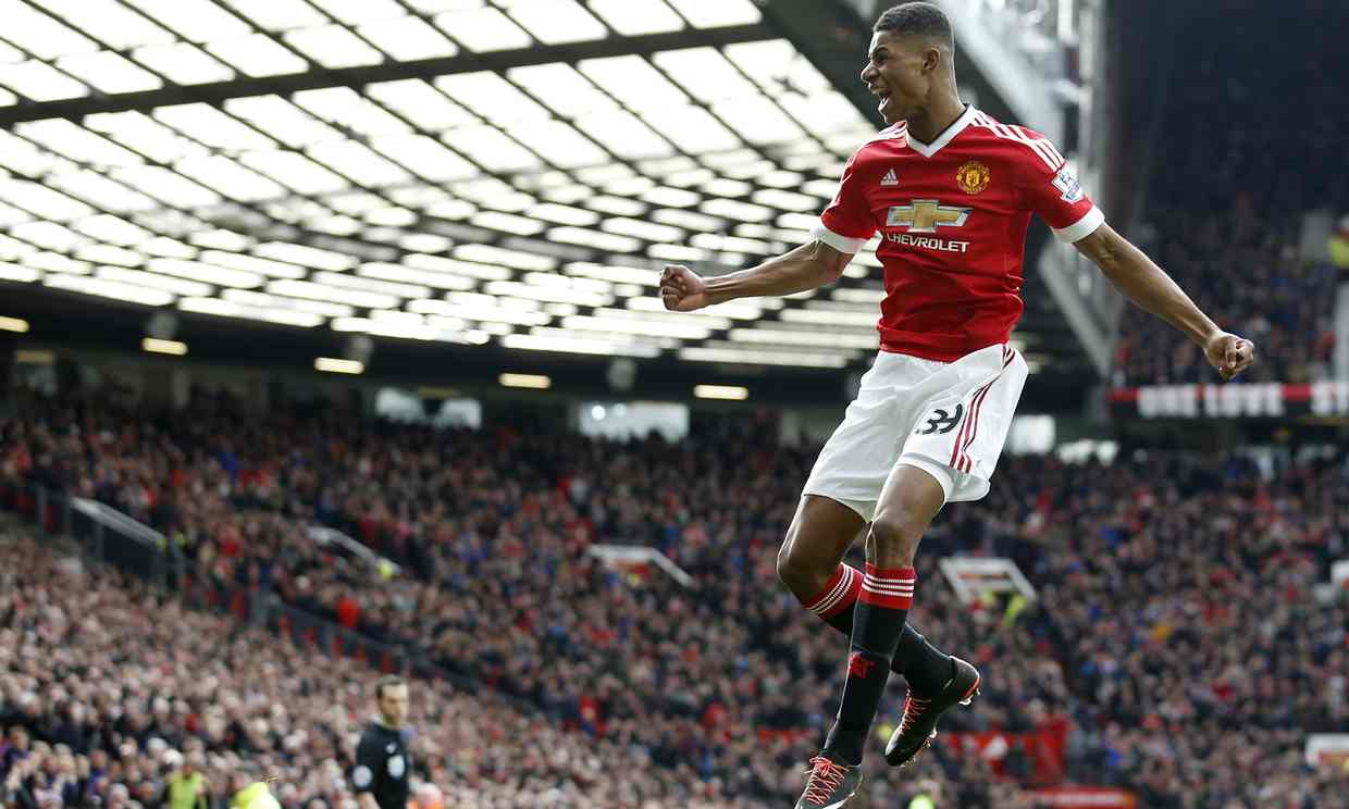 Marcus Rashford scores a brace on his Premier League debut