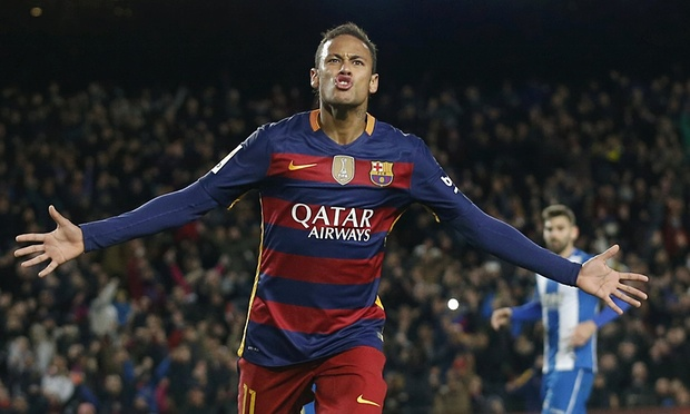 Neymar scoring again for Barcelona