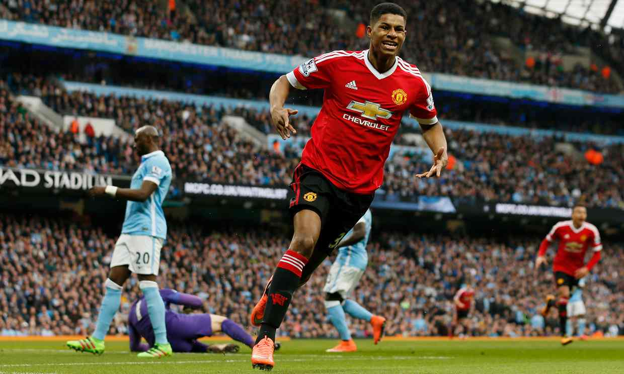 Marcus Rashford scores the winner in the derby as Manchester United beat City 1-0