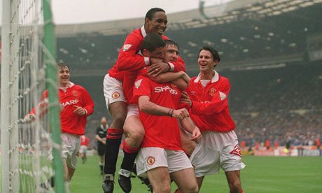 Eric Cantona scores in the FA Cup final