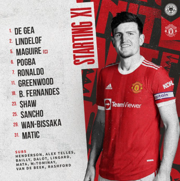 CONFIRMED: Manchester United Starting XI vs Leicester City – Stretty Rant