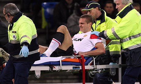 Vidic injured against FC Basel