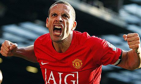 Rio Ferdinand celebrating