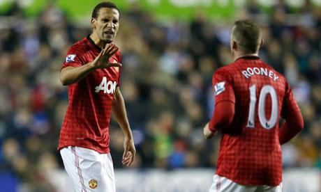 Wayne Rooney is congratulated by Rio Ferdinand