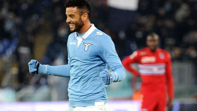 Lazio attacking midfielder Felipe Anderson